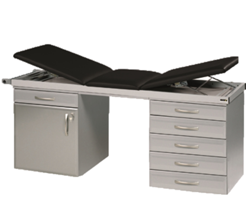 Specialist Couch System with One Drawerline Unit and One Drawer Pack in Titanium Finish