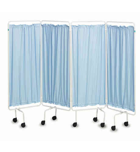 Four Panel Mobile Screen with Plastic Curtains