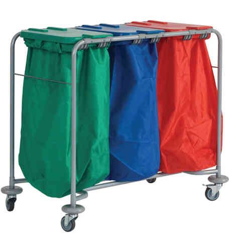 Three Bag Laundry Trolley