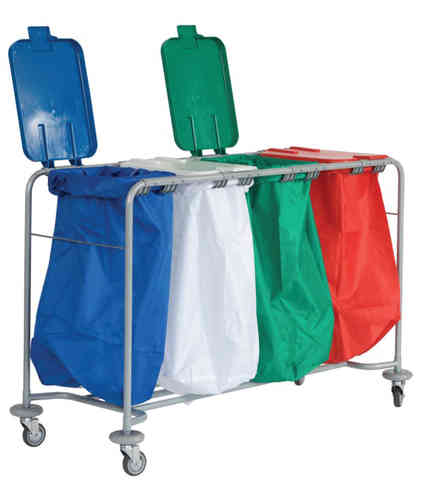 Four Bag Laundry Trolley