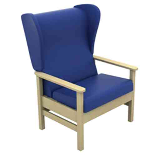 Atlas Bariatric Armchair with Wings in Anti-Bacterial Vinyl