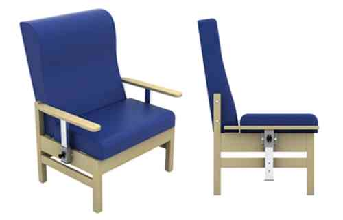 Atlas Bariatric Armchair with Drop Arms in Anti-Bacterial Vinyl