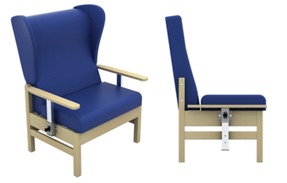 Atlas Bariatric Armchair With Drop Arms And Wings In Anti