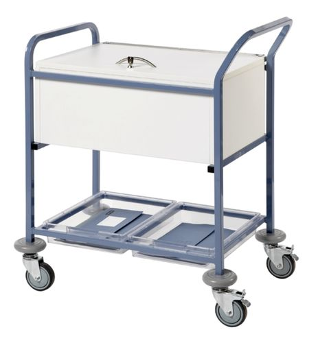 Sun-MRTT1L Records Transfer Trolley - With Folding Locking Top