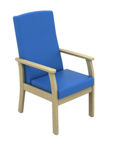 Atlas Mid Back Patient Arm Chair in Vinyl