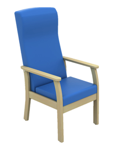 Atlas High Back Patient Arm Chair in Vinyl