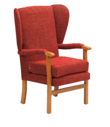 Jubilee Fireside Chair- Crimson