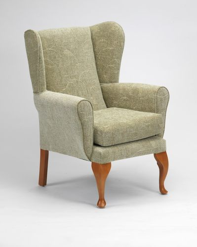 Queen Anne Fireside Chair in Sage
