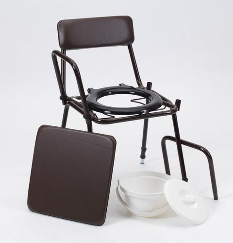 Stacking Commode with Removable Armrests