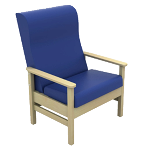 Atlas Bariatric Armchair in Anti-Bacterial Vinyl