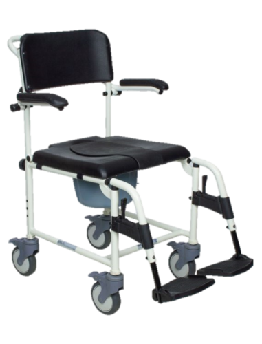 Mackworth Essential Shower Commode Chair-Attendant Propelled
